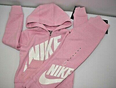 Nike Girls Zip Hoodie & Sweat Pants 2 Pcs Sets Sz 4 New With Tag617846450755