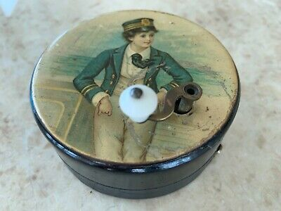 antique German wind up automaton music box 1900 signed