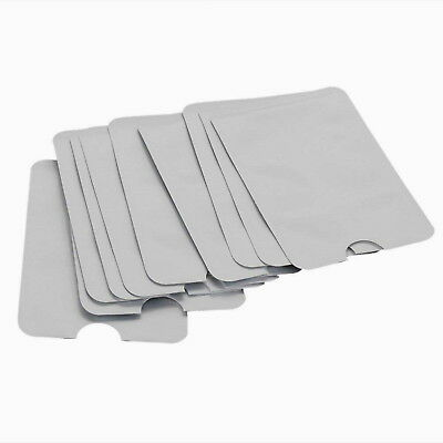 TEN Lot of 10 RFID Blocking Sleeves Identify Theft ID Credit Card Protection