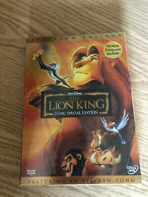 The Lion King (DVD, 2003, 2-Disc Set, Platinum Edition) Free Shipping!
