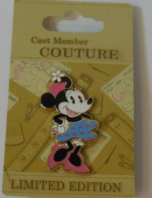 Disney trading pin cast member couture minnie mouse le