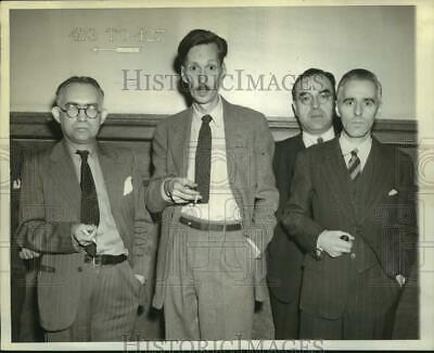 1942 Press Photo Men sentenced for being Japanese agents in Brooklyn, New York