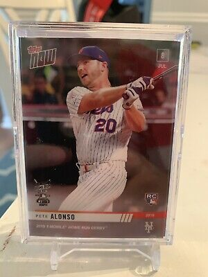 2019 Topps Now Card Home Run Derby Rookie Card Mets Pete Alonso #hrd-2