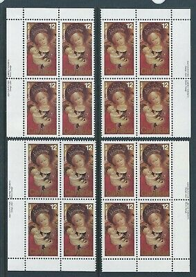 Canada #773 Christmas - Paintings Matched Set Plate Block MNH