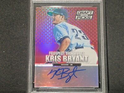 Kris Bryant 2013 Panini Prizm Draft Red Autograph Rookie (95/100) Chicago Cubs