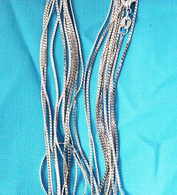 wholesale lots 10pcs  Silver 1.0mm Cuban Snake  Chain Necklace Free shipping LT9