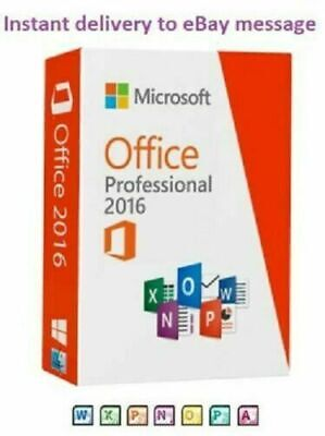 Microsoft Office 2016 Pro Plus License Life time Instant Delivery Geniune Key🔑