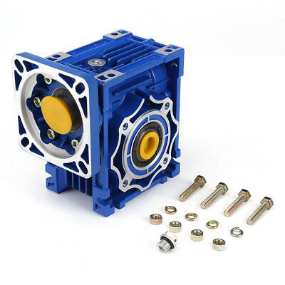 NMRV40 Worm Gearbox Reduction Ratio 5:1 to 100:1 for NEMA34 Stepping Motor HT