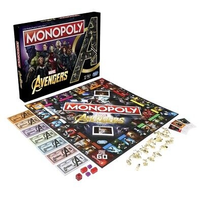 Monopoly: Marvel Avengers Edition Board Game for Ages 8 and Up Family Board Game