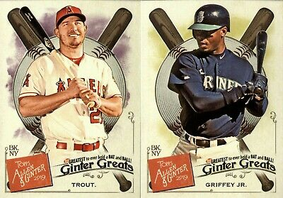 2019 Topps Allen & Ginter Ginter Greats Insert Singles - You Pick For Your Set