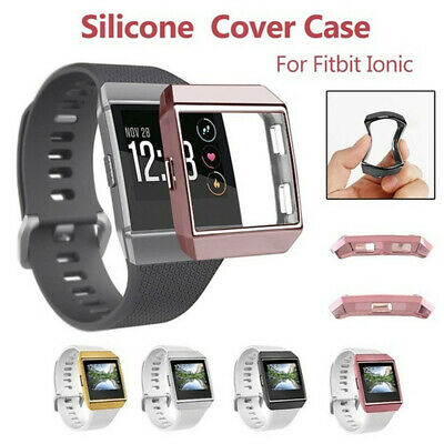 Ultrathin Soft TPU Full Cover Clear Screen protector Case Skin For Fitbit ionic