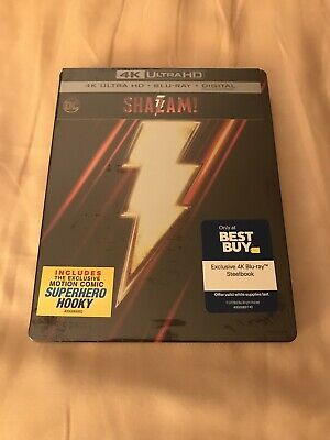 Shazam! 4K (UHD / Blu-ray / Digital) ~ Best Buy Exclusive Steelbook ~ NEW