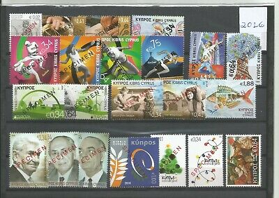 Cyprus-Specimen Stamps 0F 2016-All Issues 22 Stamps In Total Mnh