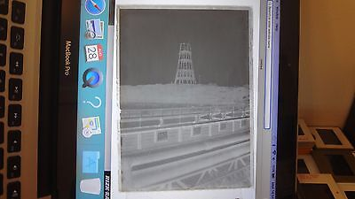 1897 New Brighton Tower Construction From  Wallasey Pier.glass Photo Negative
