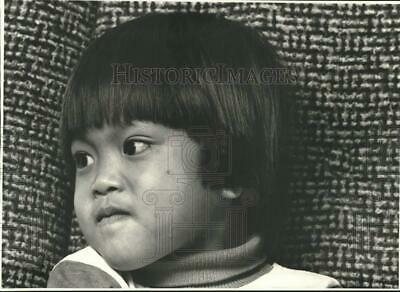 1986 Press Photo 5 year old Pouldoy Phetsouphanh in Closeup - sya49773