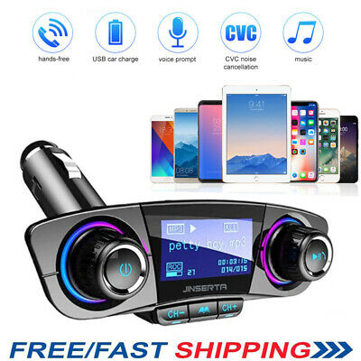 Wireless Bluetooth Handsfree Car Kit FM Transmitter Player USB Charger AUX AU