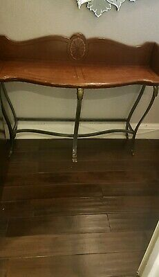 Antique Victorian Stripped Pine Table Hall Console Desk Dressing Sofa Kitchen