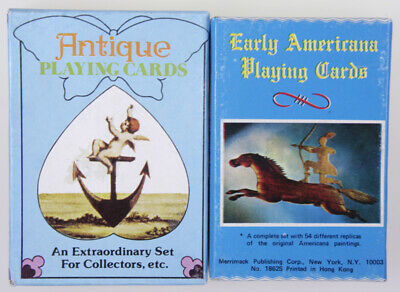 """JOKER * USA """"Antique Playing Cards/Early Americana Playing Cards"""" 2 Spiele"""