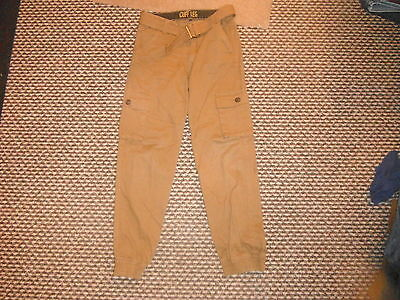 "Denim Co Cuff Leg Jeans Waist 27"" Leg 25"" Faded Brown Boys 10/11 Yrs Jeans"