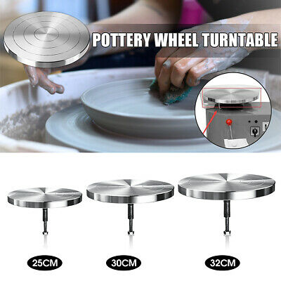 25/30/32cm Electric Pottery Wheel Metal Turntable Ceramic Clay Craft Decorating