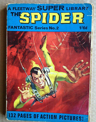 Fleetway Super Library-Fantastic Series # 2 - The Spider ( Rare 1967 )