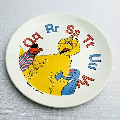 1981 Vintage Muppets Dinner Plate Collectible Rare Sesame Street Ironstone 17cm