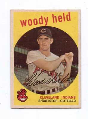 1959 Topps Baseball #266 Woody Held Indians Exnm