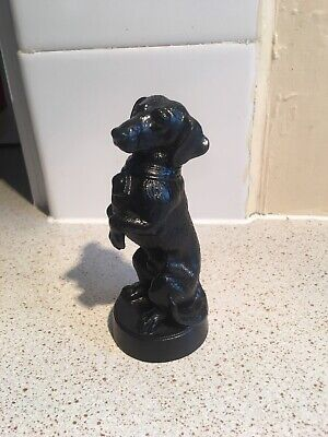 Charming Vintage Posing,Begging Dachshund Daxi, Doxi Cast Metal Figure Signed