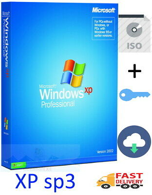 WINDOWS XP PROFESSIONAL SP3 32bit GENUINE ORIGINAL ISO (Product key+Download)