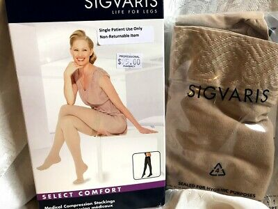 Sigvaris Thigh High Stockings Compression Medical Natural 862NSSW33 20-30 mmHG
