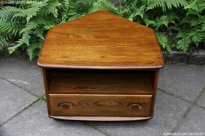 Ercol Windsor Golden Dawn Elm Corner Tv Cabinet Satellite Dvd Stand Table Unit