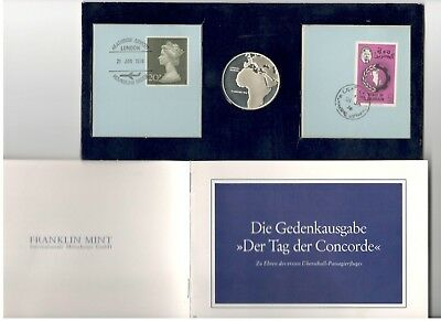 1976 Concorde First Flight London-Baharain Medallion/Coin German Version Type 1