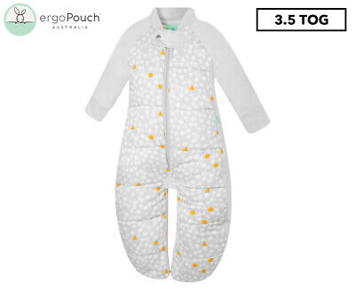 ergoPouch 3.5 Tog Sleep Suit Bag - Grey Triangle Pops