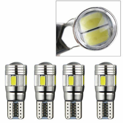 10x Super Bright T10 Car Bulbs LED Canbus Error Free Lamp 6 SMD White Side Light