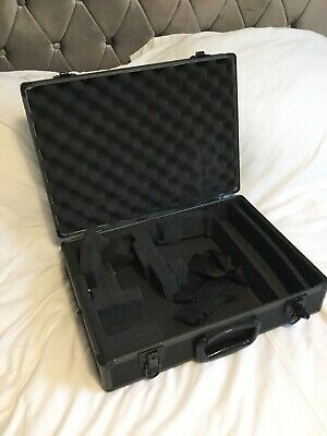 Jessops Black Hard Flight Case Camera Media Travel Portable Carry Compartments