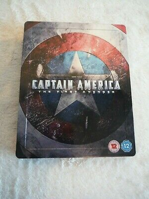 Captain America - The First Avenger. Blu-ray and DVD Combo, Steelbook, Marvel