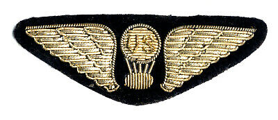 WWI Balloon Corps Balloon Pilot bullion wing badge (sew on, no pin back)