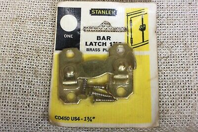 bar Latch cabinet interior Shutter brass finish vintage new old stock USA made