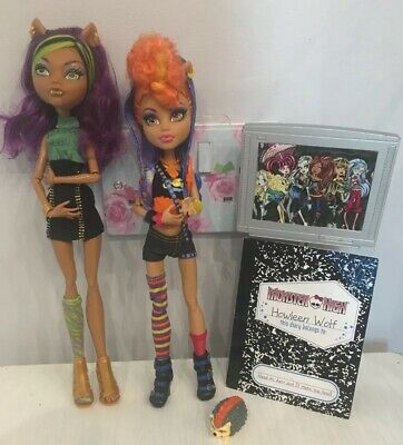 Monster High Clawdeen & Howleen Wolf Sisters Doll Great Condition Complete💕