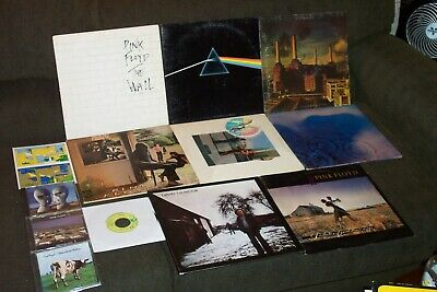 Pink Floyd 8 Lp Lot Dark Side Of The Moon, Wish You Were Here, Animals, The Wall