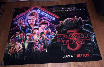 Netflix Stranger Things Season 3 5Ft Subway Poster Eleven Demogorgon Cast