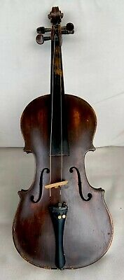 antique French German violin Geige 19 century well used