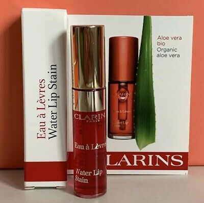 CLARINS Water Lip Stain RED 2.8ml BRAND NEW IN BOX Auth Free Postage
