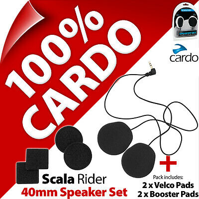 Cardo Scala Rider 40mm Speaker Set Freecom SmartPack PackTalk G9x G9 G4 Q3 Q1 Qz