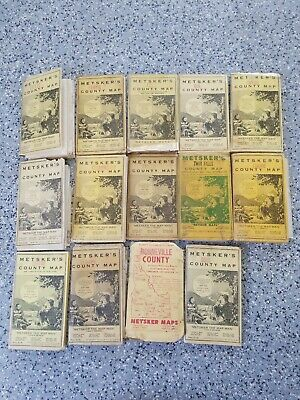 Metsker's Vintage Idaho County Maps Lot of 13