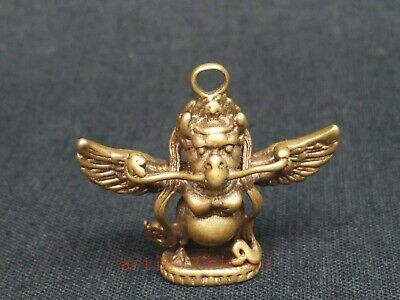 Collection Chinese Tibetan Copper Carving Buddha Statue Necklace Pendant Amulet