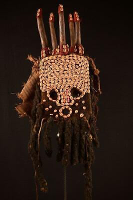 9252 African Old Bamun Voodoo Mask Cameroon Africa