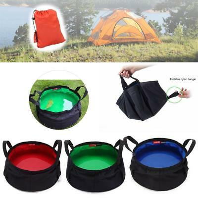 Folding Collapsible Wash Basin Bowl Camping Hiking  Sink Cooking 8.5L BR