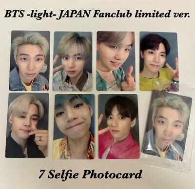 BTS Official 7 Photocard Lights/Boy With Luv Japfan Fanclub limited ver Jungkook