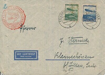 Covers Hindenburg 1936 Airmail Germany USA First Flight LuftPost War LZ 129 NA 3